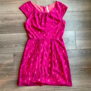 Two Toned Pink Lace Dress